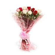 Buy 12 Mix Roses Flower Elegant Bunch