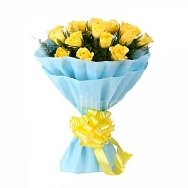 Send-Online-Yellow-Roses-Bunch of 25 flowers