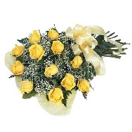 Buy Fresh 12 Yellow Roses Bunch
