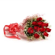 Buy Online Red Roses Bunch